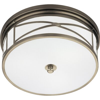 Chase 3-Light Flush Mount Finish: Dark Antique Nickel
