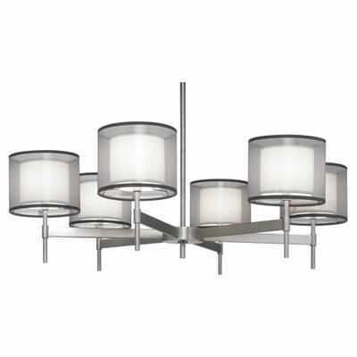Saturnia 6-Light Shaded Chandelier