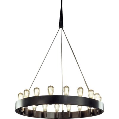 Rico Espinet Candelaria 18-Light Candle-Style Chandelier Finish: Deep Patina Bronze