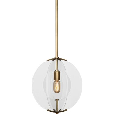 Latitude 1-Light Globe Pendant Finish: Antique Brass