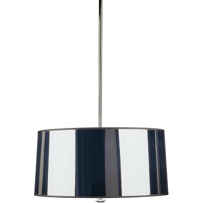 Penelope 3-Light Drum Pendant Finish: Polished Nickel with Silver Shade