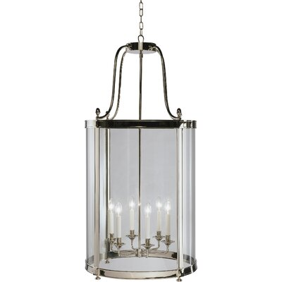 Blake 6-Light Lantern Pendant Finish: Polished Nickel