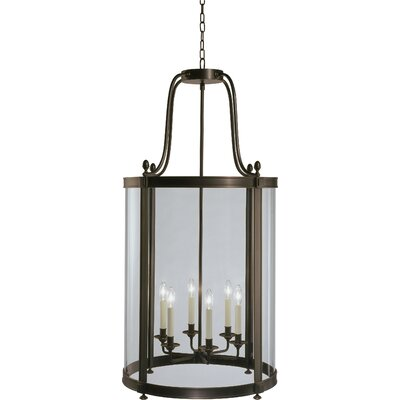 Blake 6-Light Foyer Pendant Finish: Deep Patina Bronze