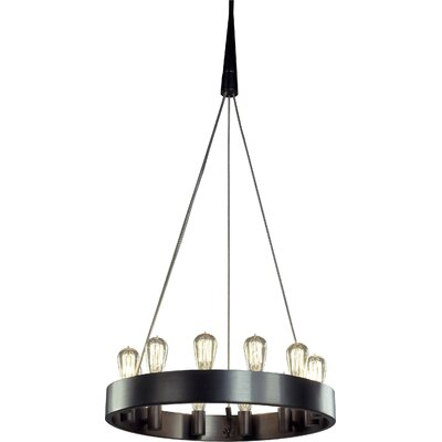 Rico Espinet Candelaria 12-Light Candle-Style Chandelier Finish: Deep Patina Bronze
