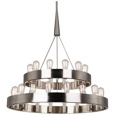 Rico Espinet Candelabra Chandelier Finish: Brushed Nickel