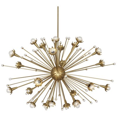 Jonathan Adler Sputnik 24-Light Sputnik Chandelier Finish: Antique Brass
