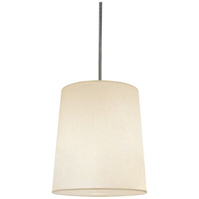 Buster 1-Light Drum Pendant Shade Color: Fondine Fabric