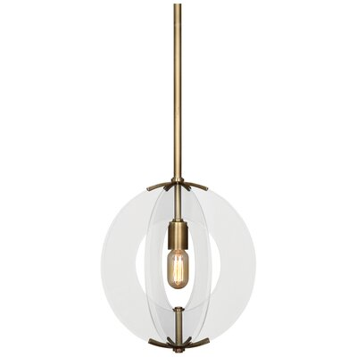 Latitude 1-Light Mini Pendant Finish: Antique Brass