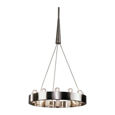Rico Espinet Candelaria 12-Light Chandelier Finish: Brushed Nickel
