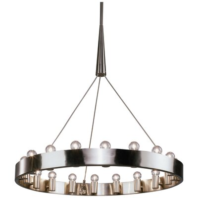 Rico Espinet Candelaria 18-Light Candle-Style Chandelier Finish: Brushed Nickel