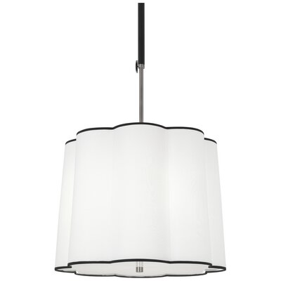 Axis 3-Light Drum Pendant Finish: Blackened Antique Nickel, Shade Color: Ascot White