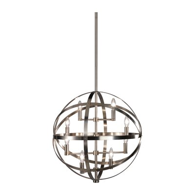 Lucy 8-Light Globe Pendant Finish: Dark Antique Nickel