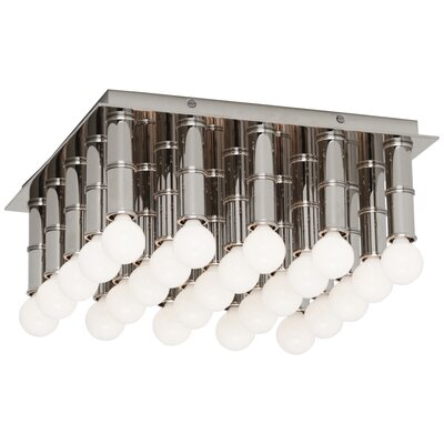 Jonathan Adler Meurice Flush Mount Fixture Finish: Polished Nickel