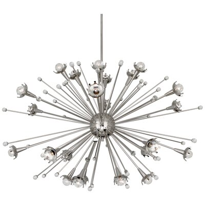 Jonathan Adler Sputnik 24-Light Sputnik Chandelier Finish: Polished Nickel