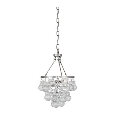 Bling 2-Light Cluster Pendant Finish: Polished Nickel