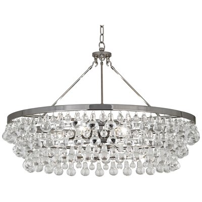 Bling 6-Light Crystal Chandelier Finish: Polished Nickel