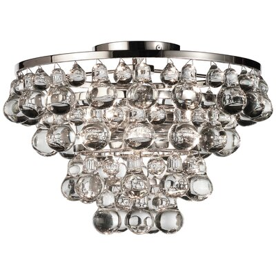 Bling 2 Light Semi Flush Mount