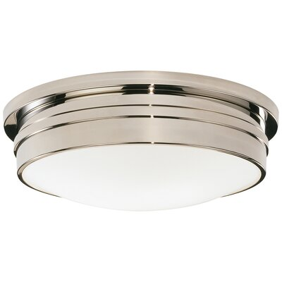Roderick 3-Light Flush Mount Fixture Finish: Polished Nickel