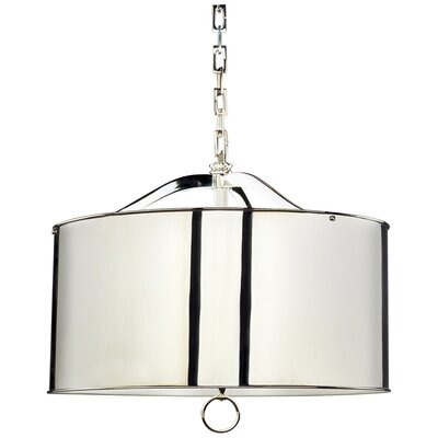 Porter 3-Light Drum Pendant Finish: Silver