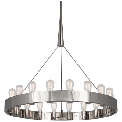 Rico Espinet Candelaria 18-Light Candle-Style Chandelier Finish: Polished Nickel
