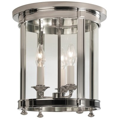 Blake 3-Light Flush Mount Finish: Polished Nickel
