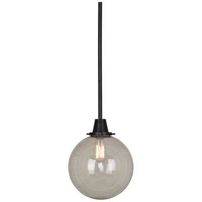 Rico Espinet 1-Light Globe Pendant Finish: Deep Patina Bronze, Shade Material: Topaz Seeded Glass