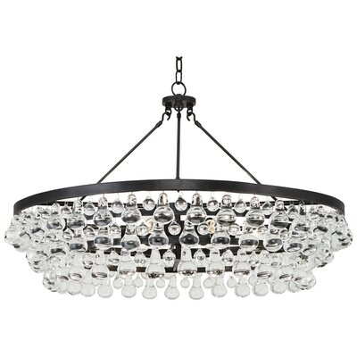 Bling 6-Light Crystal Chandelier Finish: Deep Patina Bronze