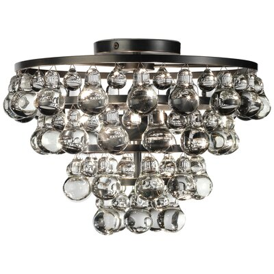 Bling 2-Light Flush Mount Fixture Finish: Deep Patina Bronze