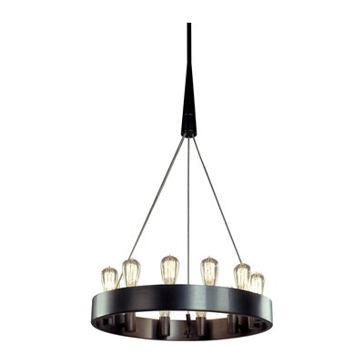 Rico Espinet Candelaria 12-Light Chandelier Finish: Deep Patina Bronze