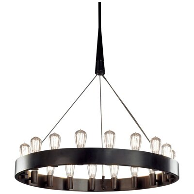 Rico Espinet Candelaria 18-Light Chandelier Finish: Deep Patina Bronze
