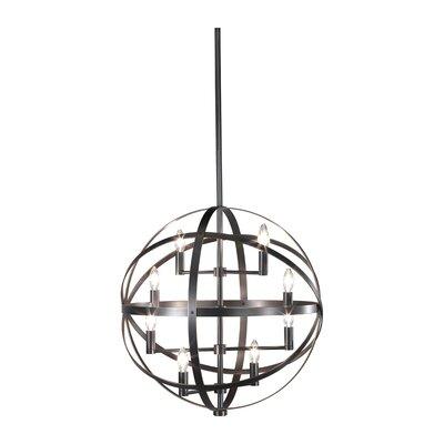 Lucy 8-Light Globe Pendant Finish: Deep Patina Bronze
