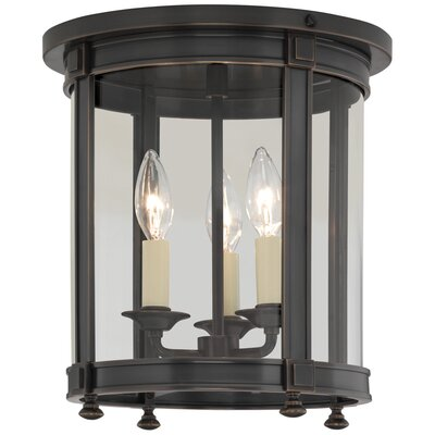 Blake 3-Light Flush Mount Finish: Deep Patina Bronze