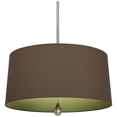 Williamsburg Custis 3-Light Drum Pendant Shade Color: Revolutionary Storm Fabric/Parrot Green