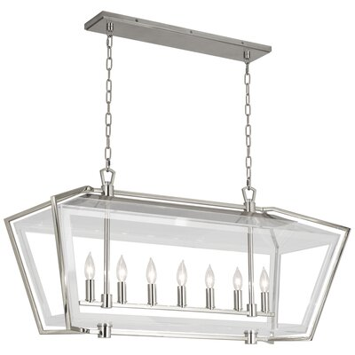Casper 7-Light Kitchen Island Pendant Finish: Polished Nickel