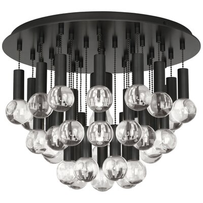Jonathan Adler Milano 1-Light Flush Mount Fixture Finish: Deep Patina Bronze
