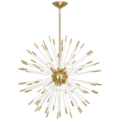 Andromeda 8-Light Sputnik Chandelier Finish: Modern Brass, Size: 28 H x 28 W x 28 D