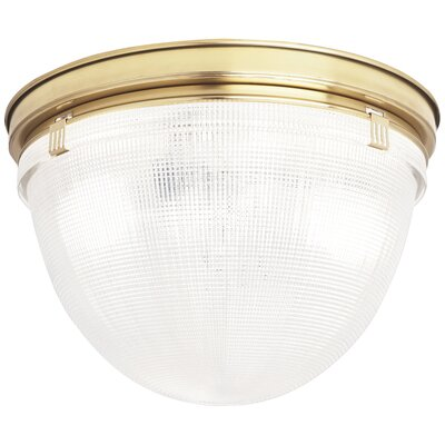 Brighton 2-Light Flush Mount Fixture Finish: Modern Brass