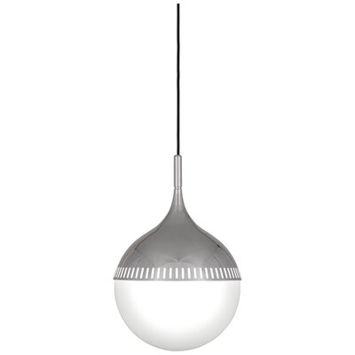Jonathan Adler Rio 1-Light Globe Pendant Finish: Polished Nickel, Size: 18.625 H x 12 W x 12 D
