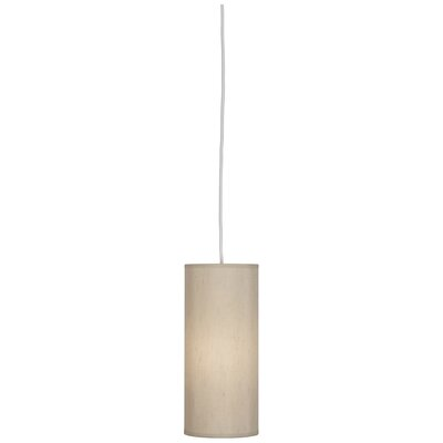 Elena 1-Light Mini Pendant Shade Color: Bone Dupoini