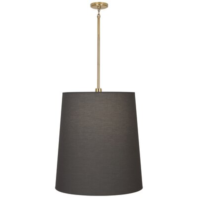 Rico Espinet Buster 1-Light Mini Pendant Finish: Polished Brass, Shade Color: Smoke Gray