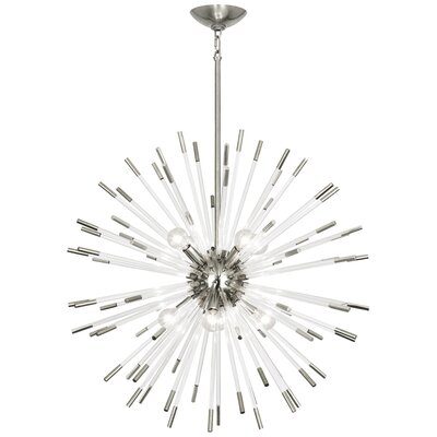 Andromeda 8-Light Sputnik Chandelier Finish: Polished Nickel, Size: 28 H x 28 W x 28 D