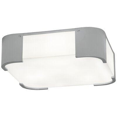 Bryce 3-Light Flush Mount Fixture Finish: Polished Chrome