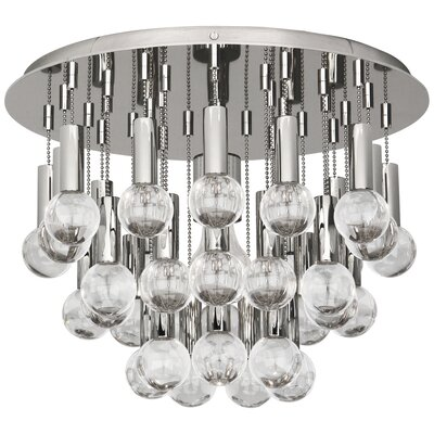 Jonathan Adler Milano 1-Light Flush Mount Fixture Finish: Polished Nickel