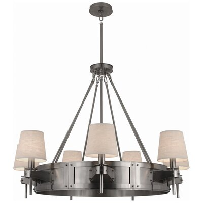 Rico Espinet Caspian 7-Light Drum Chandelier Finish: Dark Antique Nickel