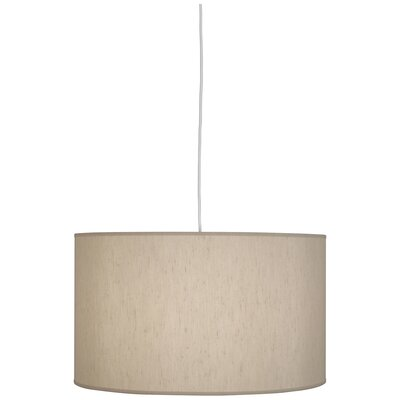 Elena 1-Light Drum Pendant Shade Color: Bone Dupoini