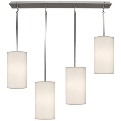 Echo 4-Light Kitchen Island Pendant Finish: Stainless Steel