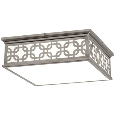 Williamsburg Dickinson 2-Light Flush Mount Fixture Finish: Antique Silver