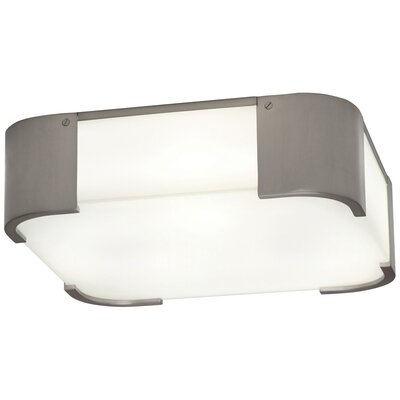 Bryce 3-Light Flush Mount Fixture Finish: Brushed Nickel