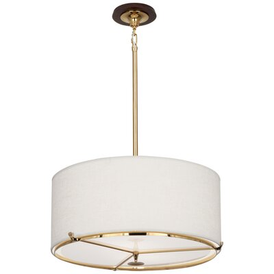 Edwin 2-Light Drum Pendant Finish: Polished Brass