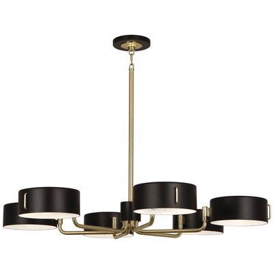 Simon 6-Light Candle-Style Chandelier Finish: Modern Brass